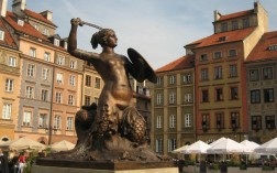 Mermaid-statue-Warsaw