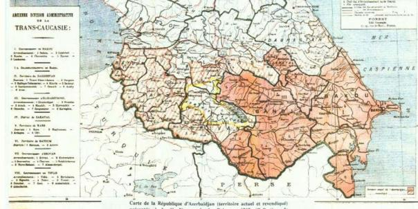 azerbajdzjan map